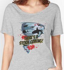 Shark Tornado - Shark Cult Movie - Shark Attack - Shark Tornado Horror Movie Parody - Storm's Coming! Women's Relaxed Fit T-Shirt