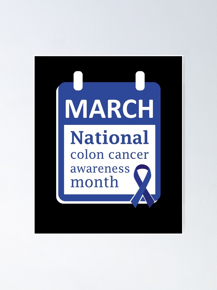 Colon Cancer Shirt Survivor Colorectal Cancer Blue Ribbon Poster By Tncgifts Redbubble