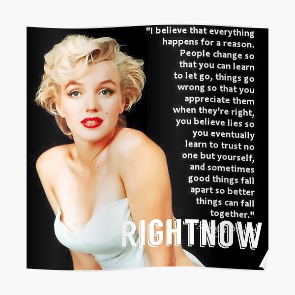 Marilyn Monroe Keep Smiling Inspirational Quote Beleive Motivation Poster Smile