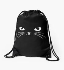 Cute Black Cat Drawstring Bag