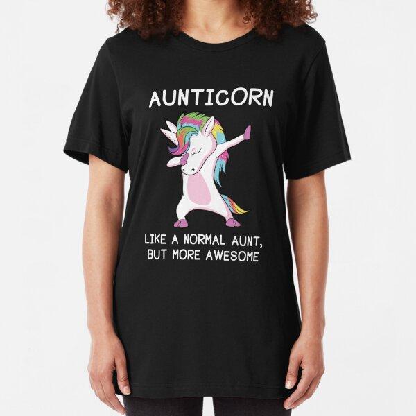 Aunticorn Unicorn Aunt Slim Fit T-Shirt