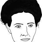 Simone de Beauvoir by Clifford Sosis