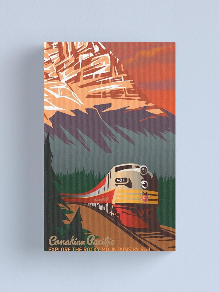Alternate view of Retro Train Travel Canvas Print