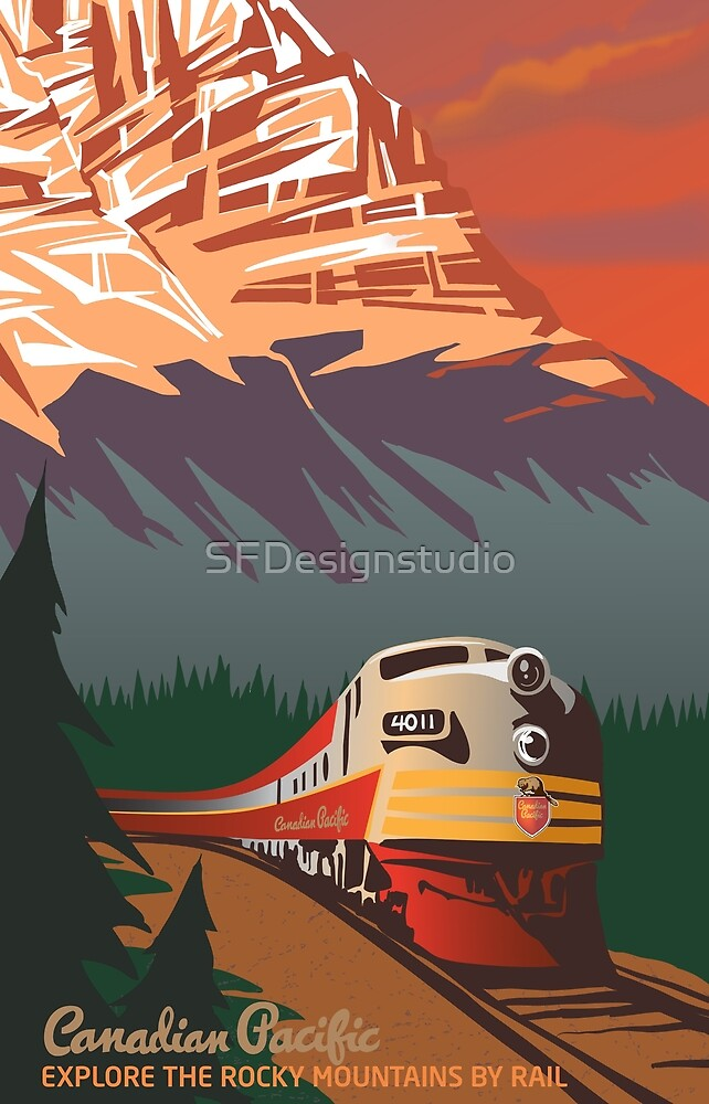 «Viaje en tren retro» de SFDesignstudio
