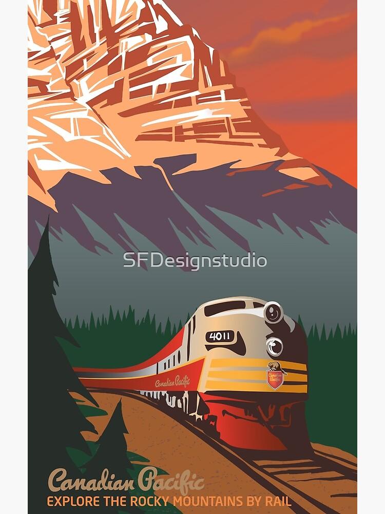 Retro Train Travel by SFDesignstudio
