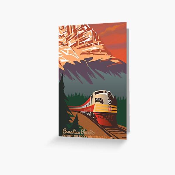 Jurassic Coast Dorset Devon Art Deco Railway Poster 1930s style Birthday Card