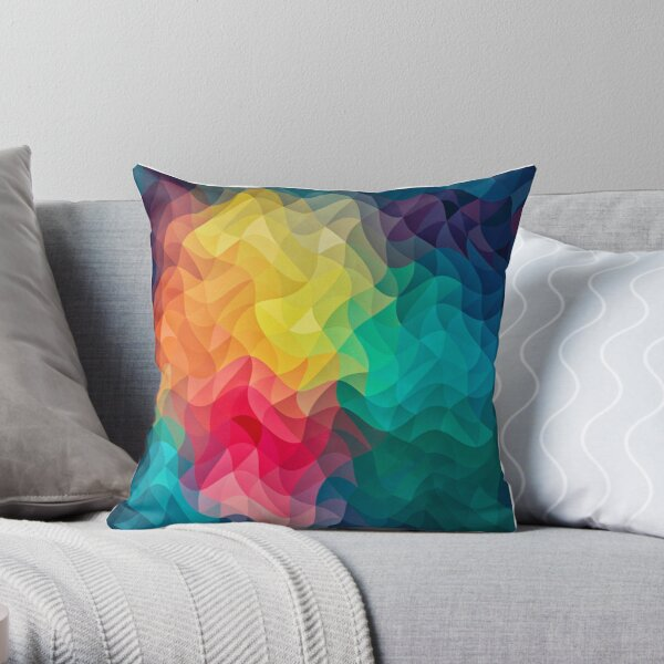 Abstract Color Wave Flash Throw Pillow