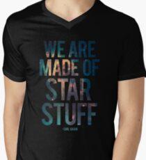 Camiseta de cuello en V Estamos hechos de Star Stuff - Carl Sagan Quote