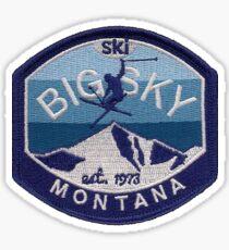 Big Sky Montana ski resort from image of vintage ski patch Sticker