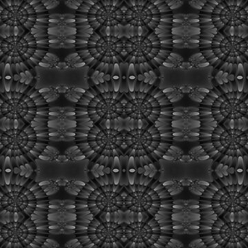 Newton Raphson Fractal Seamless Pattern XII Greyscale by shane22
