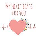 Love Heartbeat ECG by Sandra Hutter