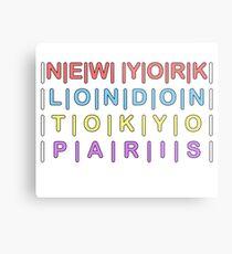 NEW YORK to LONDON to TOKYO to PARIS Metal Print