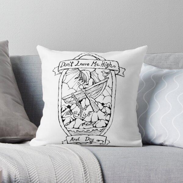 Radiohead - High and Dry - Illustrated Lyrics Throw Pillow