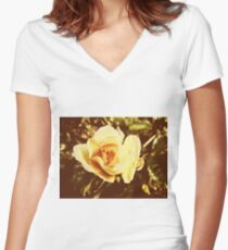 Faded Rose Women's Fitted V-Neck T-Shirt