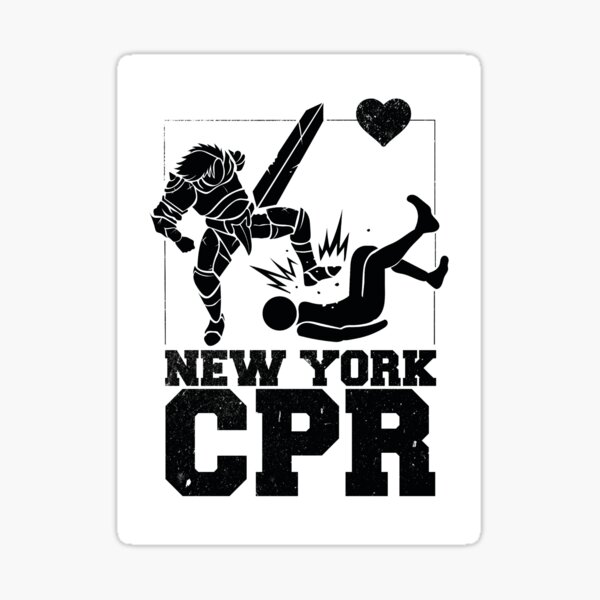 New York CPR [White] Sticker