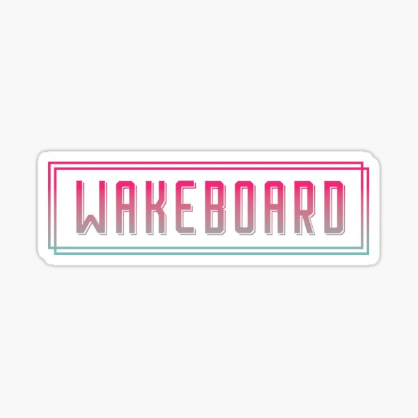 wakeboard Sticker