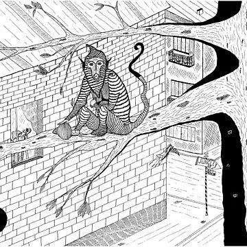 Monkey in Town by Bitsan
