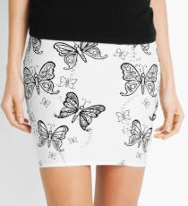 Just Add Colour -Butterfly Sparkle Mini Skirt
