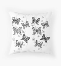 Just Add Colour -Butterfly Sparkle Throw Pillow
