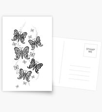 Just Add Colour -Butterfly Sparkle Postcards