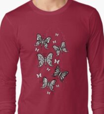 Just Add Colour -Butterfly Sparkle Long Sleeve T-Shirt