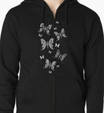 Just Add Colour -Butterfly Sparkle Zipped Hoodie