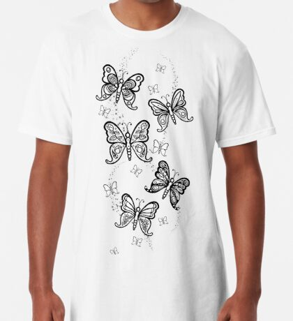 Just Add Colour -Butterfly Sparkle Long T-Shirt