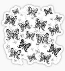 Just Add Colour -Butterfly Sparkle Sticker