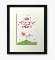 Hase mit Herz – verliebt Gerahmter Kunstdruck