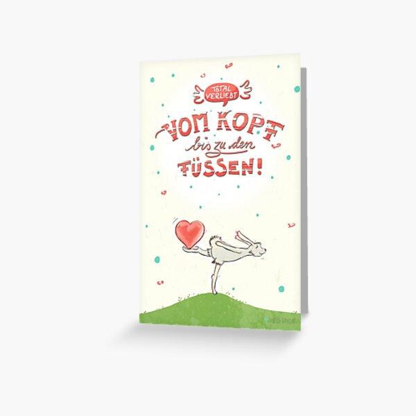 Hase mit Herz – verliebt Grußkarte