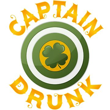 St. Patrick's Day | Funny Captain Drunk with Clover by -WaD-