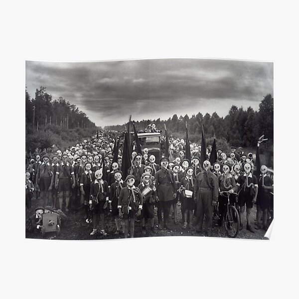 #people, #group, #adult, #crowd, #military, #war, #uniform, #pioneers, #TheLeft, #GasMask Poster