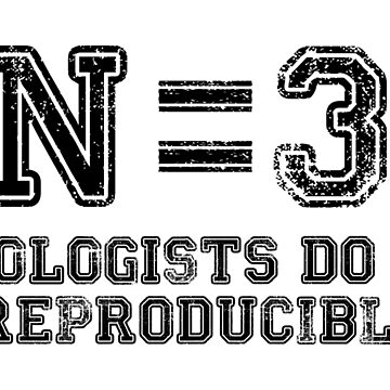 N=3. Biologists Do it Reproducibly (black text) by CellDivisionLab
