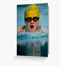 Don't you hate it when your goggles fill up with water!! Greeting Card