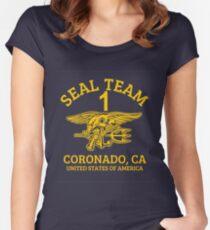 U.S. Navy SEALS - Seal Team 1 Women's Fitted Scoop T-Shirt