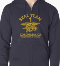 U.S. Navy SEALS - Seal Team 1 Zipped Hoodie