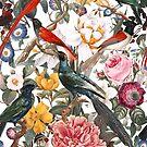 Floral and Birds XXXV by Burcu Korkmazyurek