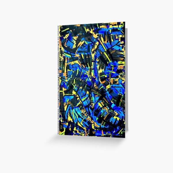 Childish&Chaotic Centipedes / Archetype Impressionism / Acrlyic on Trash 80x100cm Greeting Card