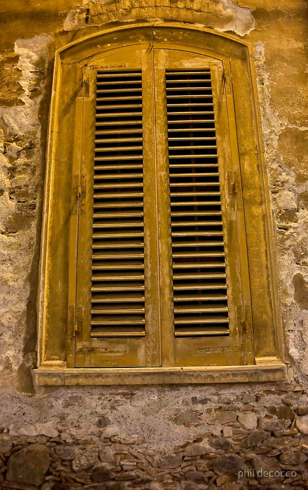 Shuttered Sicilian Window by phil decocco