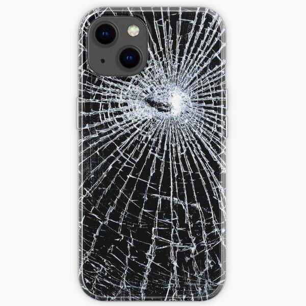 Broken Glass 2 iPhone Black iPhone Soft Case