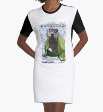 It's Groundhog Day Again Graphic T-Shirt Dress