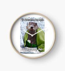 It's Groundhog Day Again Clock