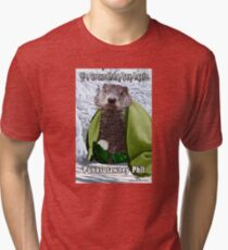 It's Groundhog Day Again Tri-blend T-Shirt