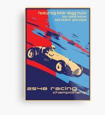 post futurist communist racing poster Metal Print