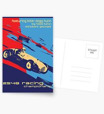 post futurist communist racing poster Postcards