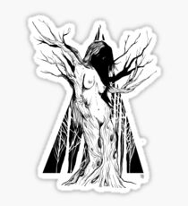 The Lady Of The Forest - Black Sticker