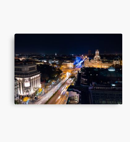Madrid - Christmas Lights Canvas Print