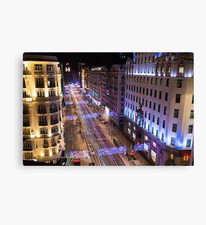 Madrid - Gran VIa Canvas Print