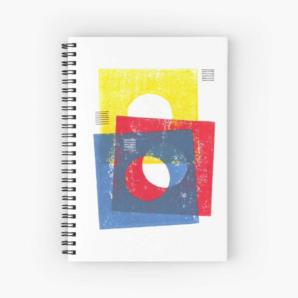 Basic in red, yellow and blue Spiral Notebook