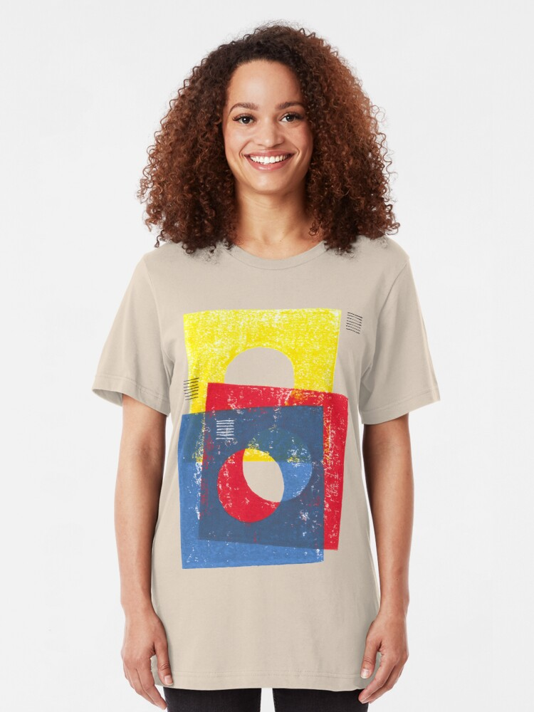Alternate view of Basic in red, yellow and blue Slim Fit T-Shirt